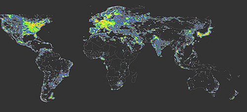 Light Pollution World Map