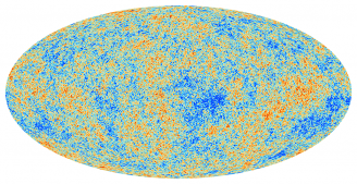 The anisotropies of the Cosmic microwave background (CMB) as observed by Planck. The CMB is a snapshot of the oldest light in our Universe, imprinted on the sky when the Universe was just 380 000 years old. It shows tiny temperature fluctuations that correspond to regions of slightly different densities, representing the seeds of all future structure: the stars and galaxies of today.