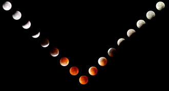 A series of images of the August 28, 2007 lunar eclipse taken from the Oregon Coast by Randall J Scholten using a Nikon D200 and 200mm zoom lens. (Credit: Randall J Scholten)