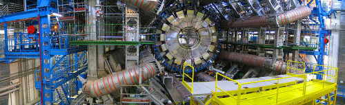 ATLAS (A Toroidal LHC Apparatus) is one of the seven particle detector experiments constructed at the Large Hadron Collider (LHC), a particle accelerator at CERN in Switzerland. It was one of the two LHC experiments involved in the discovery of a particle consistent with the Higgs boson in July 2012.
