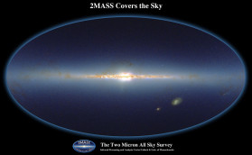 The Two Micron All-Sky Survey (2MASS) was a survey of the whole sky in three infrared wavebands around 2 micrometres (μm). The observations for the survey were taken between 1997 and 2001 and obtained an unprecedented view of the Milky Way nearly free of the obscuring effects of interstellar dust.