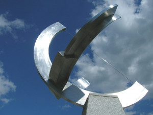 The precise sundial in the Cornell University Engineering Quad. (Credit: sach1tb on Flickr)